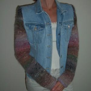 Denim Jacket with Knit Sleeves My Designing Life